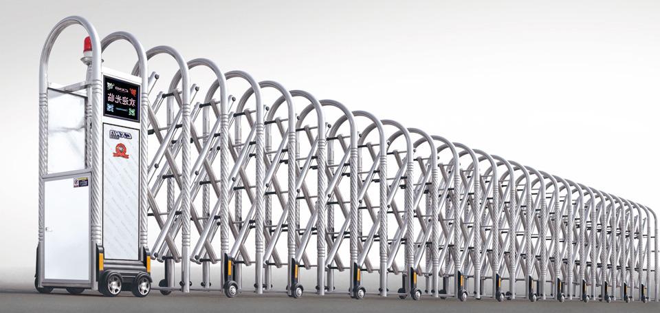 cổng xếp inox ống tròn xoắn HVP 04