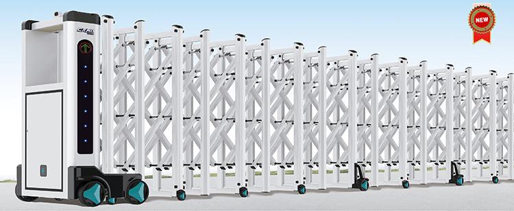 cổng xếp hợp kim nhôm thông minh hvp n01