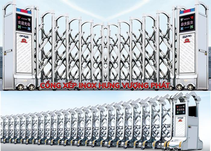 cổng xếp inox 304 và 201