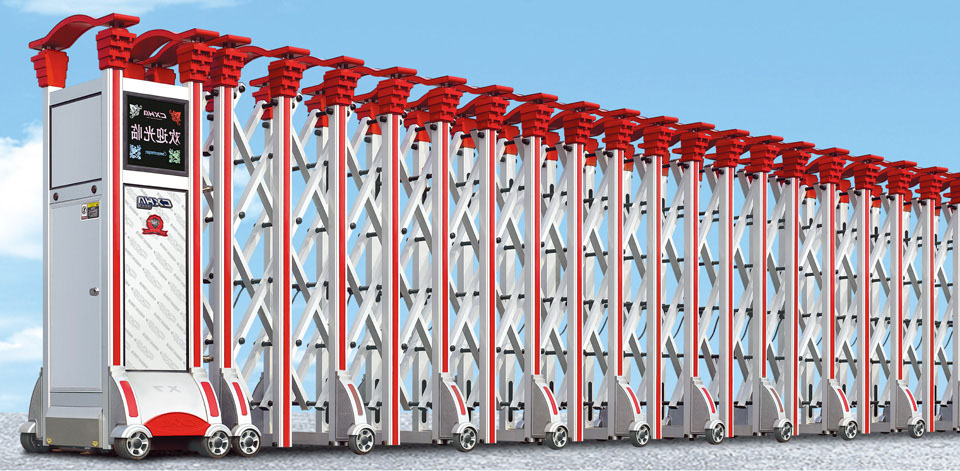 Cổng xếp hợp kim nhôm cao cấp HVP-N07