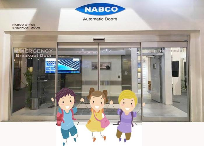 Cửa tự động Nabco Natrus an toàn cho trẻ em